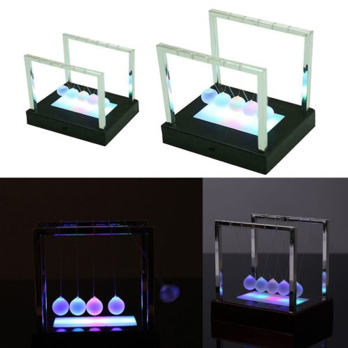 Light Up Newton's Cradle Physics Decor