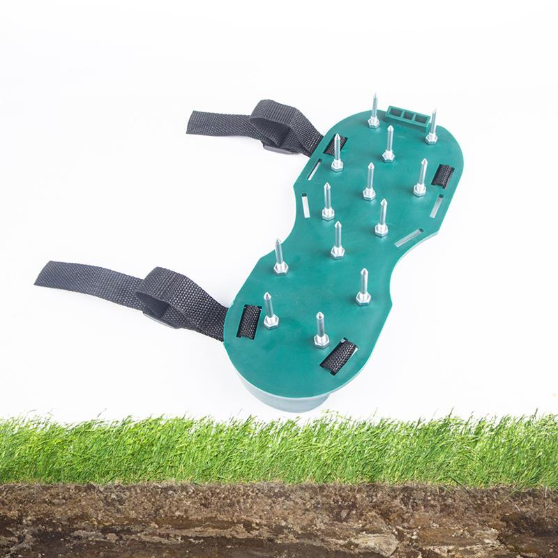 1Pair Grass Spiked Gardening Walking Revitalizing Lawn Aerator Sandals Shoes Nail Shoes Tool Nail Cultivator Yard Garden Tool