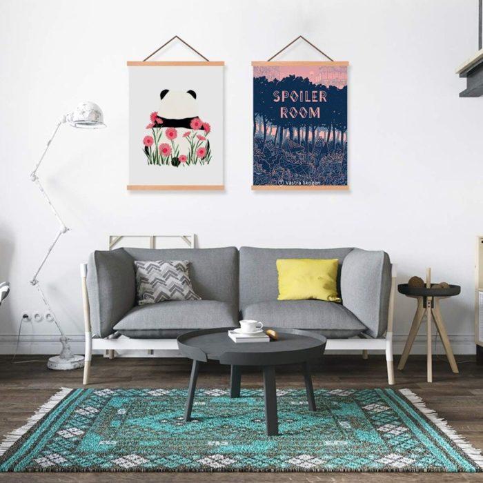 Wooden Hanging Magnetic Poster Hanger
