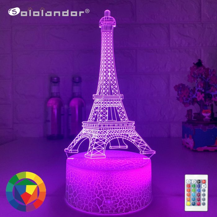 3D LED Eiffel Tower Night Light