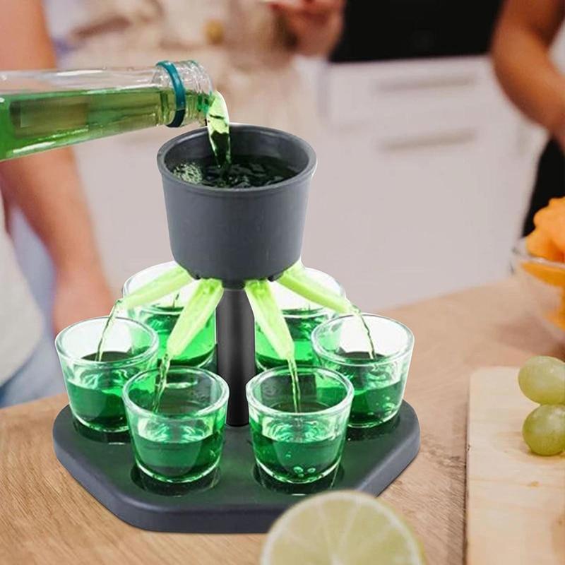 Shot Glass Games Dispenser Wine Whisky Beer Wine Liquor Dispenser Bar Accessories Party Games Drinking Tools Glass Dispenser
