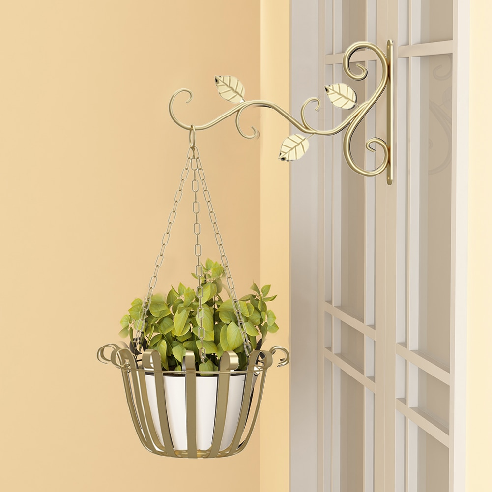 Plant Stand Flower Pot Hanging Basket Hanger For Flower Pots Home Garden Decor Iron Plant Wrought Display Stand Flower Stand