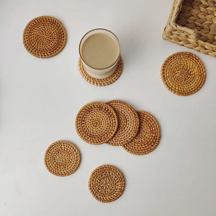 Rattan Coaster Hand-made Pad
