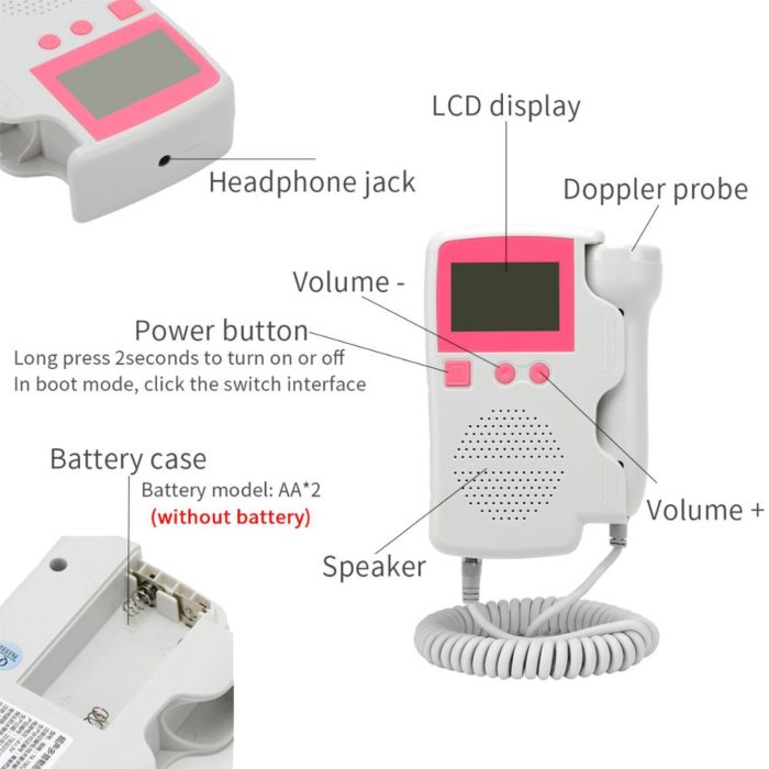 3.0MHz Baby Heartbeat Doppler