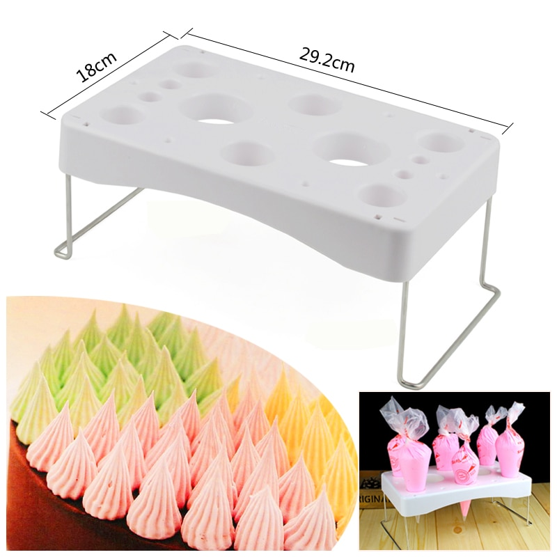 Folding Cake Piping Bag Rack Pastry Bag Stand Piping Bag Holder Cream Work Table Holder Cake Decor Tool Storage for Cream Pastry