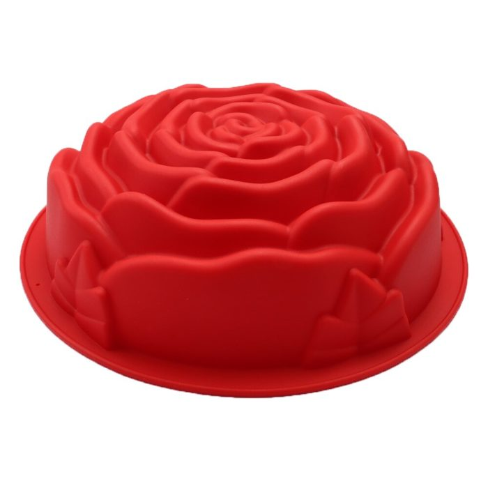 Oven-Safe Silicone Rose Cake Mold