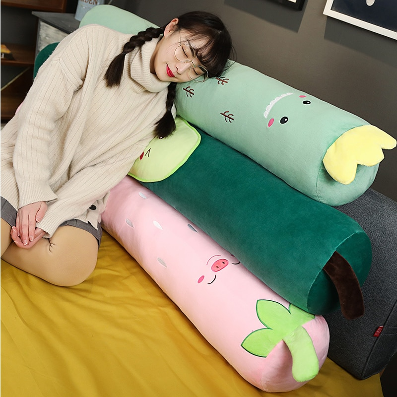Long Bolster Cushion with Fruit Design