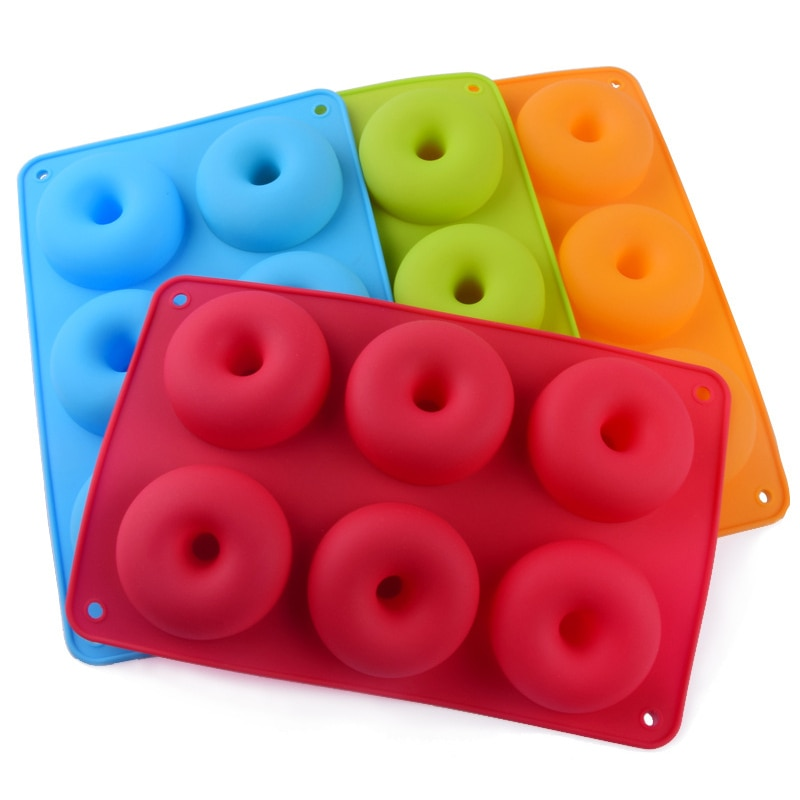 Silicone Donut Mold Strawberry Cake Mould Non-Stick Candy Doughnut Baking Pan Bakeware Tool