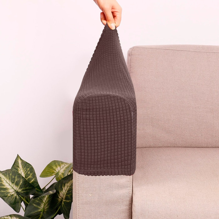 2 Pcs Sofa Furniture Armrest Covers Couch Chair Arm Protectors Stretchy for Home KSI999