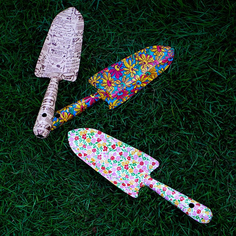Garden Trowel Printed Rust Resistant Small Shovel Gardening Tool for Flower Vegetable Potted Succulent Planting