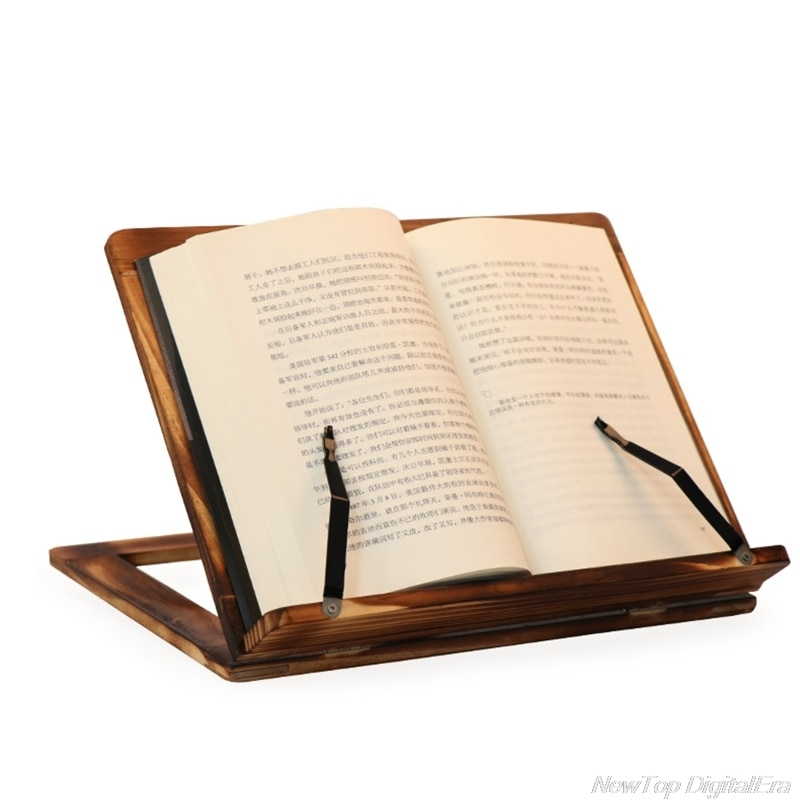 Foldable Recipe Book Stand,Wooden Frame Reading Bookshelf,Tablet Pc Support Stand D02 20 Dropshipping