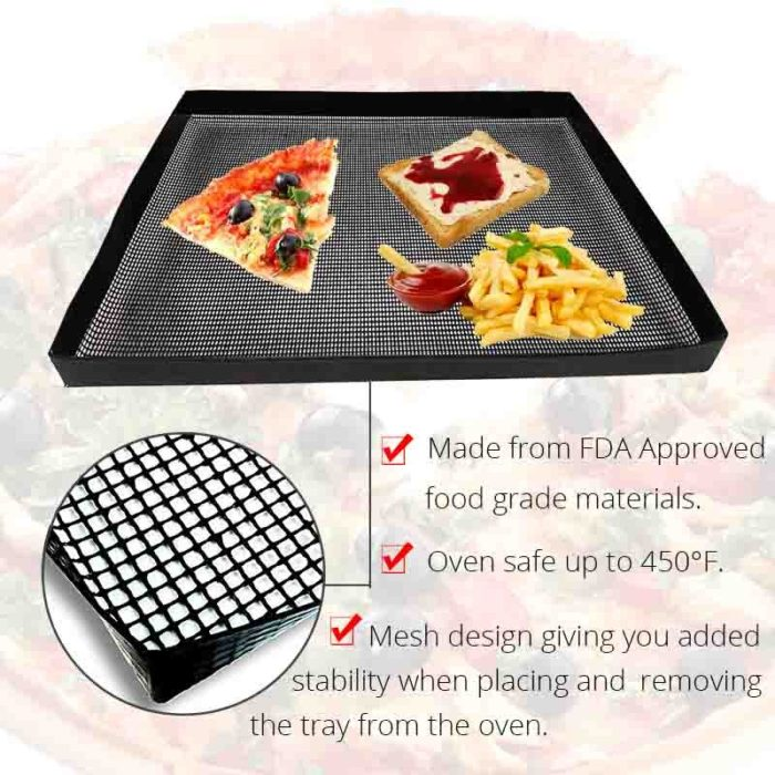 Non-Stick Coated Mesh Oven Tray