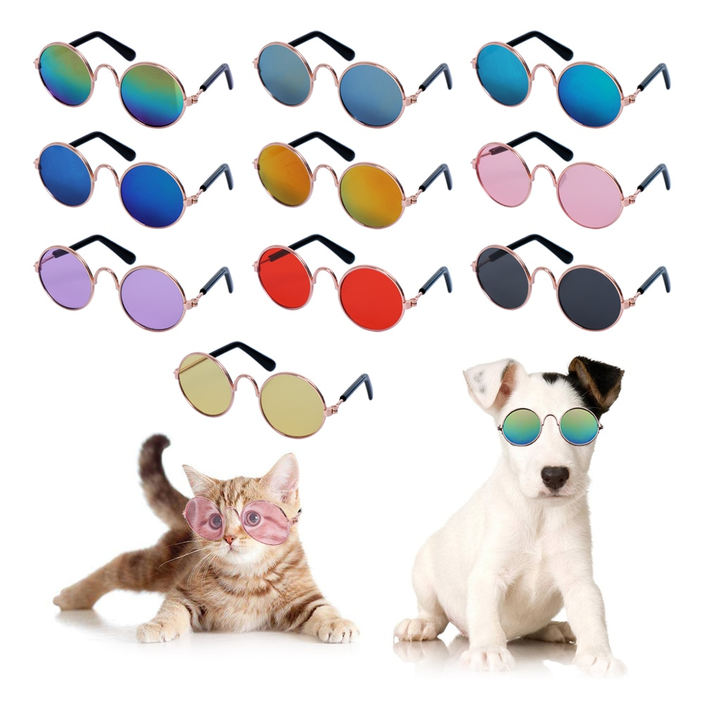 1 PC יפה משקפיים לחתול לחיות מחמד כלב מוצרים לחיות מחמד לכלב קטן חתול הגנת עיניים ללבוש משקפי שמש כלב אביזרי חיות מחמד
