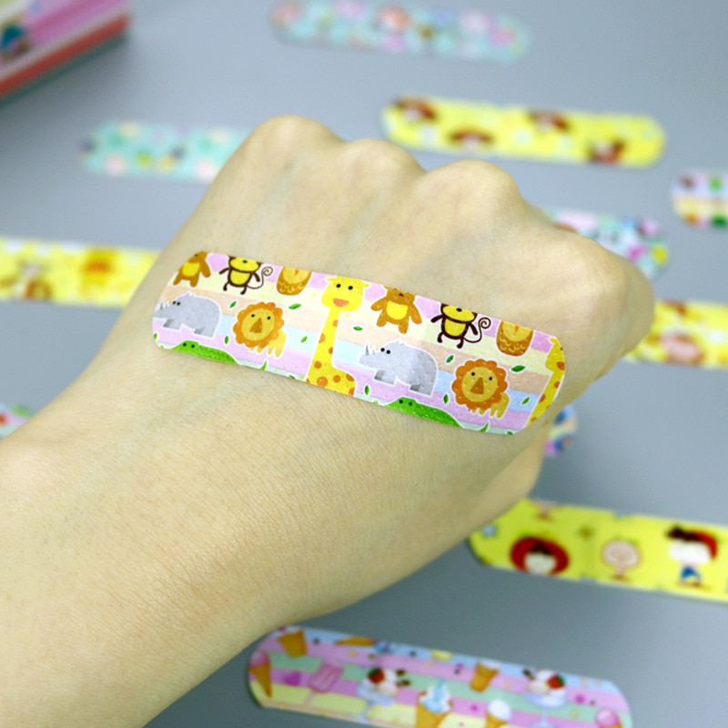 120PCs Waterproof Breathable Cute Cartoon Band-Aids Hemostasis Adhesive Bandages Band First Aid Emergency Kit For Kids Children