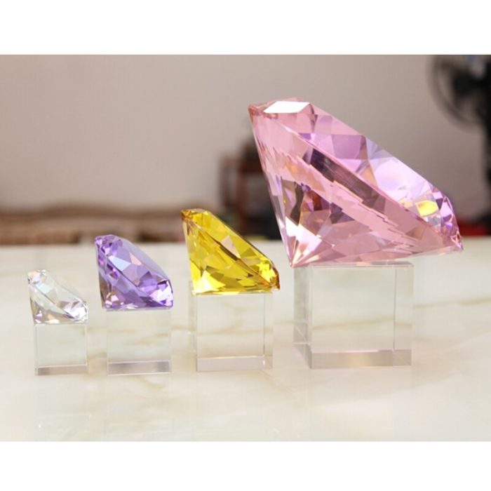 Crystal Paperweight Glass Gem Decor