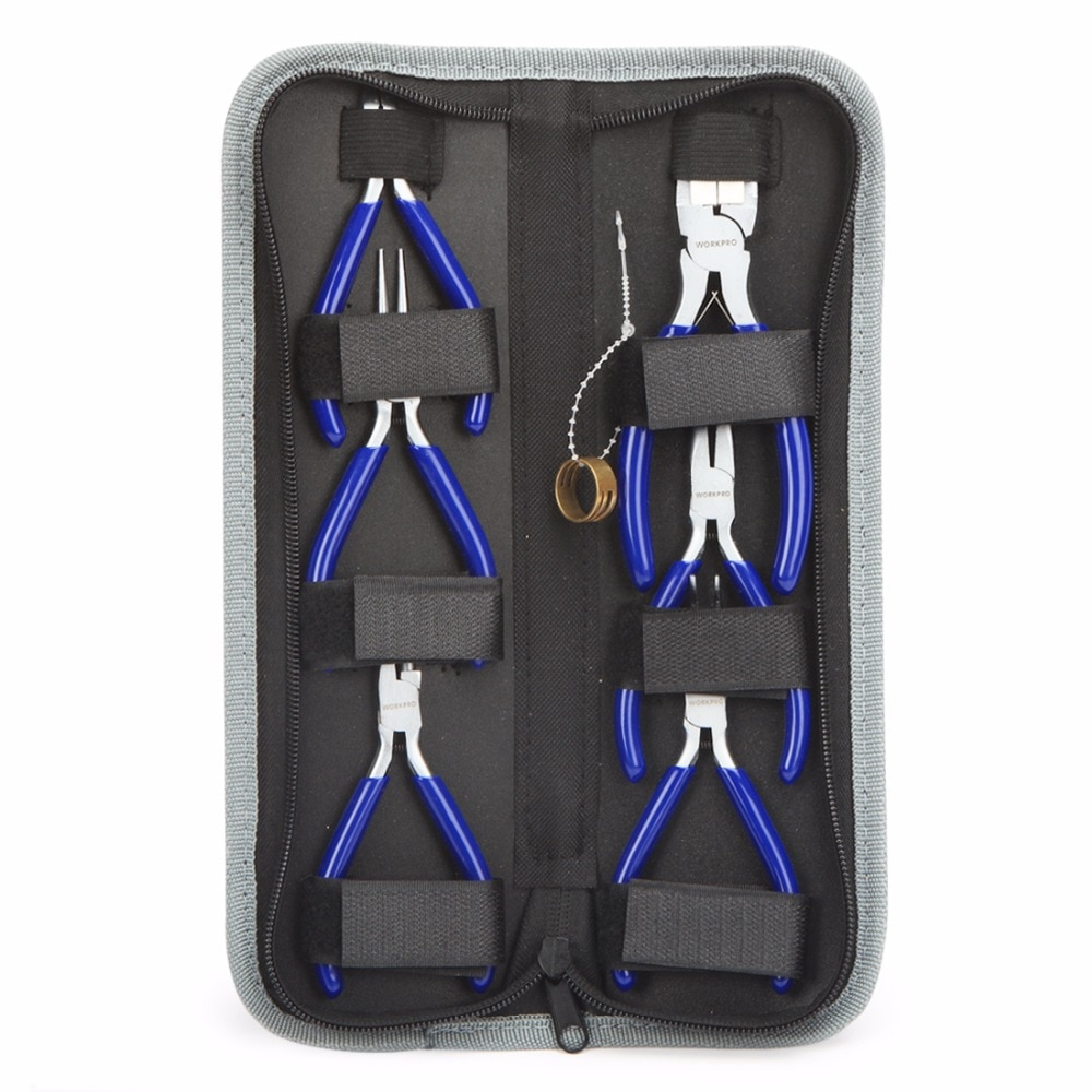 WORKPRO 7PC Mini Pliers Jewelry Plier Set Diagnoal Pliers for Jewelry
