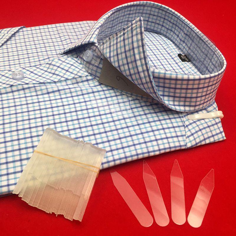 200Pcs Plastic Collar Stays Stiffeners Stay Bones Shirt Men's Clear Collar Stays L4ME