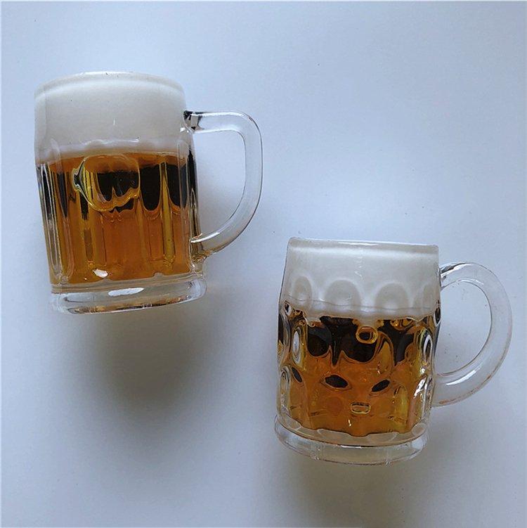 fridge magnet beer cup bottle stereo simulation decoation magnetic sticker message paste art crafts model mini