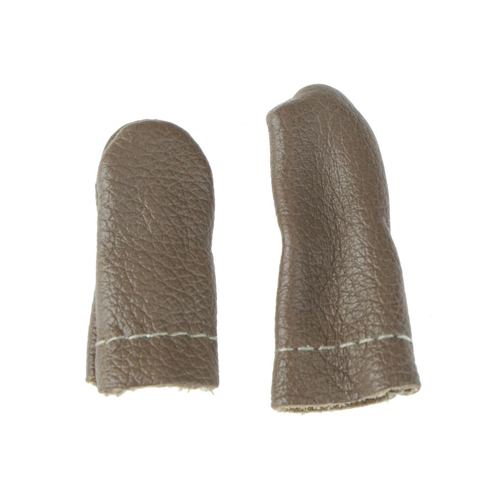 2PCS Index Thimble Needle Finger Protector Leather Embroidery Thumb Felting Guard Hand Craft Needlework Accessory