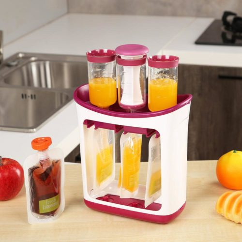 Baby Food Squeezer with Food Pouches