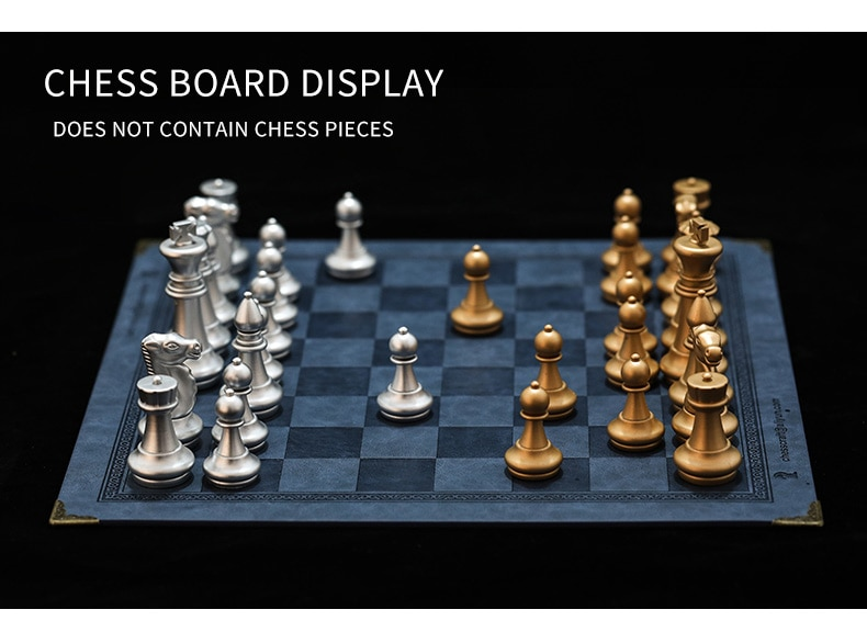 Intellectual toy chess board 7 colors embossed design leather table game portable general luxury knight chess