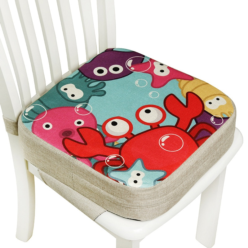 Baby Dining Cushion Children Increased Chair Pad Adjustable Removable Highchair Chair Booster Cushion Seat Chair for Baby Care