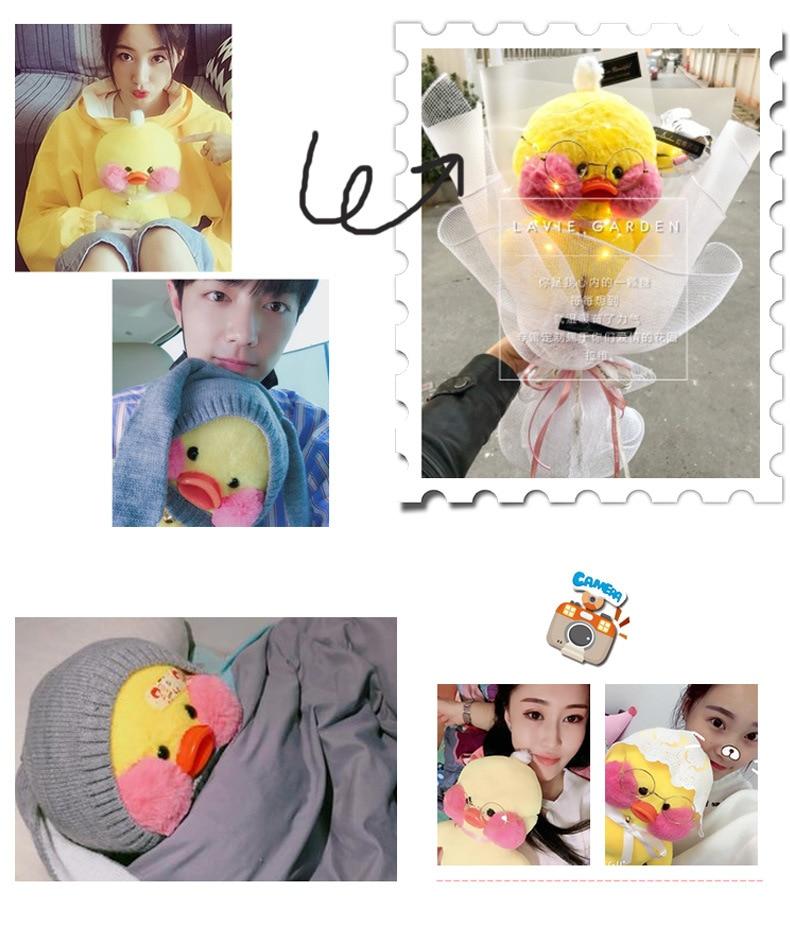 30cm Kawaii Yellow Duck Plush Toys Hyaluronic Acid Little Yellow Duck Doll Stuffed Toys Children Girls Birthday Valentine Gifts