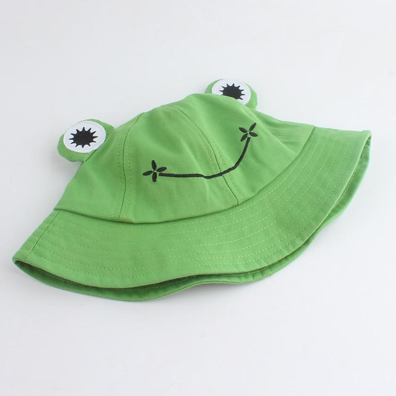 Parent-Kid Cartoon Frog Bucket Hat Panama Fishing Cap Cute Froggy Hat Homme Femme Bob Chapeau Outdoor Sun Fisherman Hat