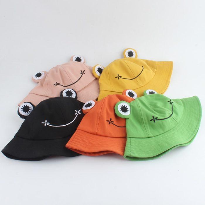 Frog Bucket Hat Cute Fishing Cap