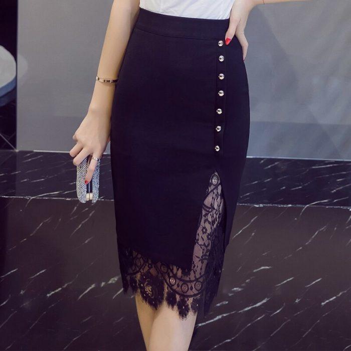 Fashionable High Waisted Pencil Skirt