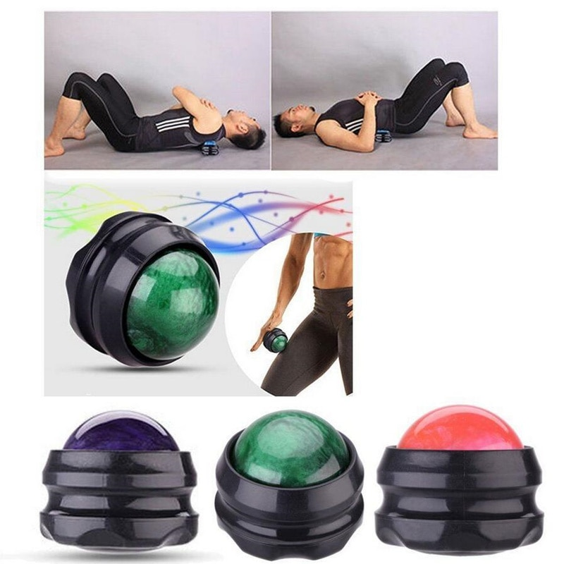 Cool Cold Massage Roller Ball Massager Body Therapy Foot Waist Hip Back Relaxer Stress Release Muscle Relaxation Equipment