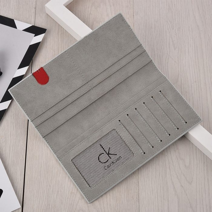 Mens Long Bifold Wallet Slim Design