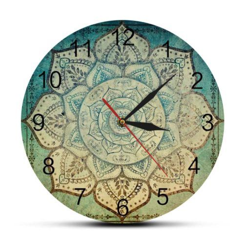 Bohemian Mandala Clock Wall Decor