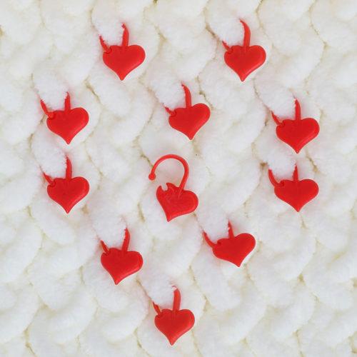 Heart-Shaped Locking Stitch Markers
