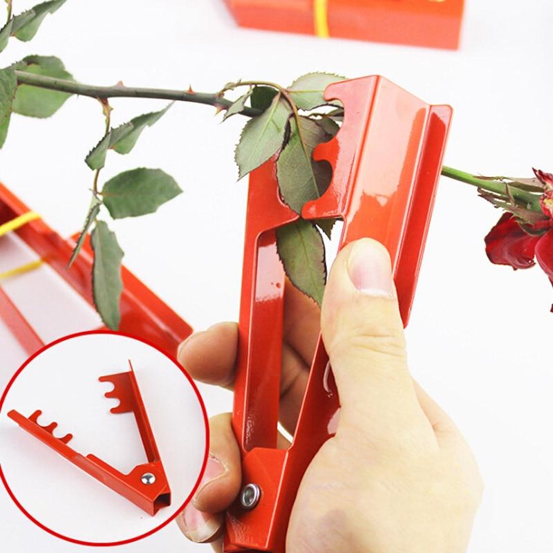 1pcs 14.3*2.5cm DIY Cut Tool Florist Metal Gardon Flower Rose Thorn Stem Leaf Stripper Rose Plier Removing Burrs Garden Tool
