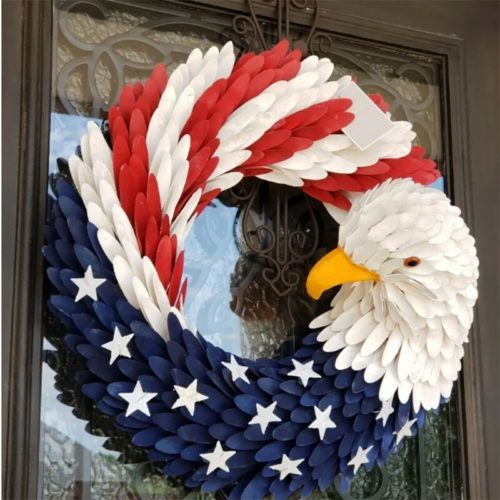 Hanging Door Garland American Eagle Wreath