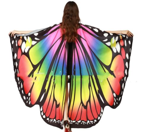 Adult Butterfly Costume Cape Wings