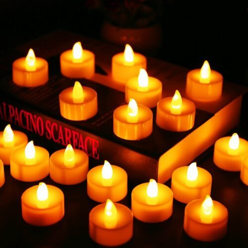 Flameless Battery Operated Tea Lights (12Pcs.)