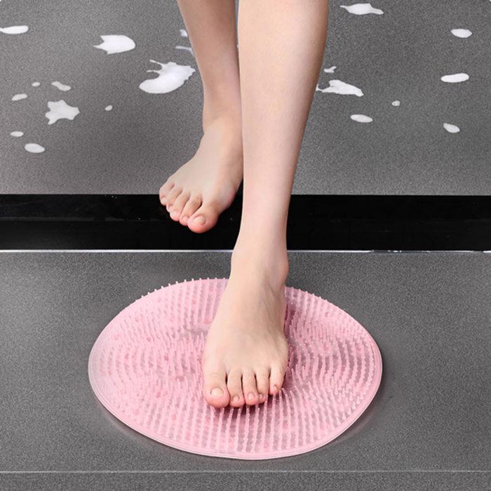 Shower Foot Scrubber Mat Silicone Scrubber