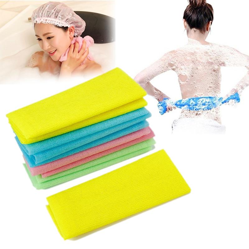 Free shipping beauty skin cloth exfoliating wash cloth japanese body wash towel nylon bath towel skin polishing towel 5pcs
