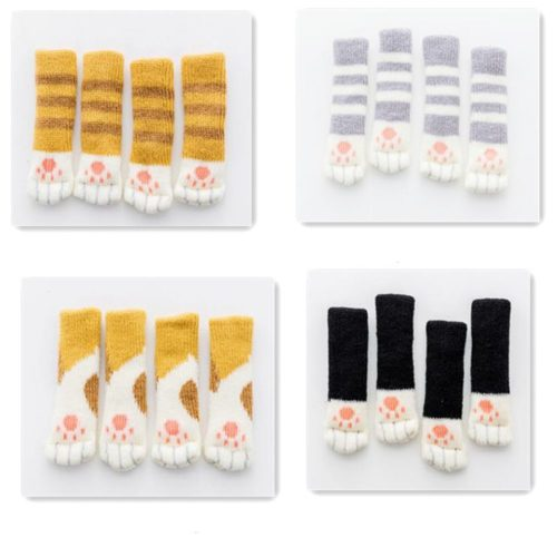 Cat Paw Chair Socks Floor Protector (4Pcs.)