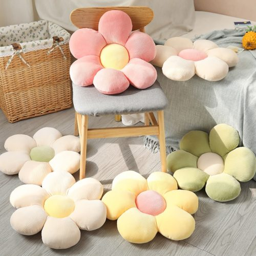 Flower Plush Pillow Sofa Cushion