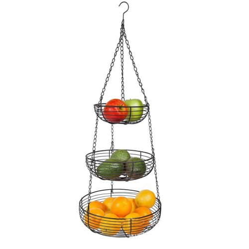 Three Tier Fruit Basket Hanging Organizer