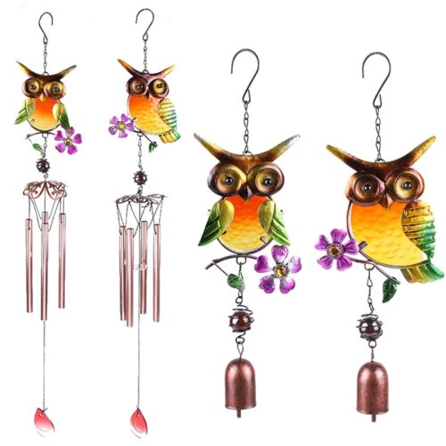 Hanging Metal Owl Wind Chimes
