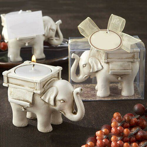 Retro Style Elephant Tea Light Holder