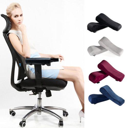 Velvet Office Chair Arm Cushion