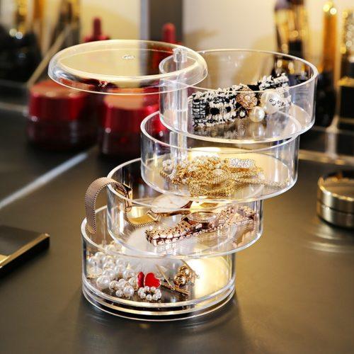 Rotatable Acrylic Jewelry Organizer