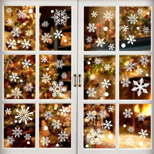 Snowflake Stickers Christmas Decor (36 Pcs)