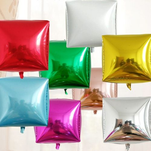 Square Balloons Cube Party Decor (2 Pcs)