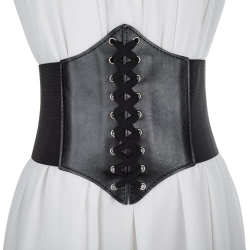 Corset Belt Stretchable Leather Accessory